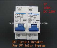 50 unids/lote 1 P 100A 220 V DC disyuntor MCB Mini Circuit Breaker para PV sistema Solar