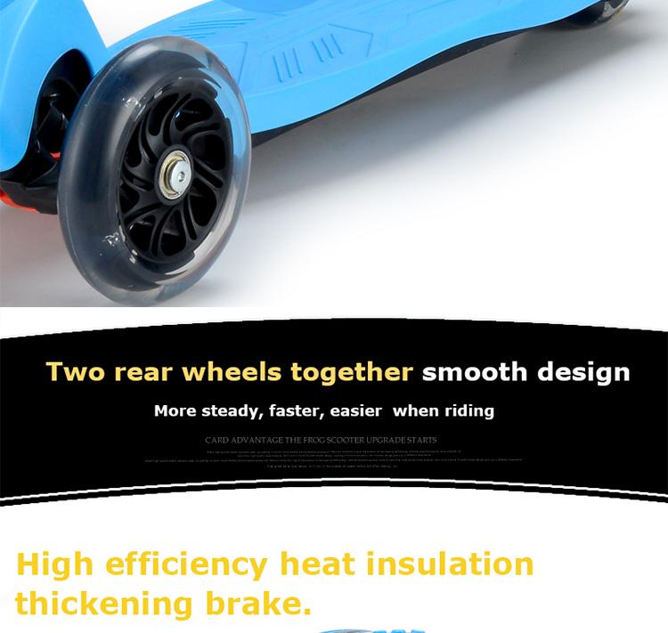 Дизайн корпуса два задних колеса самокат earier езда
