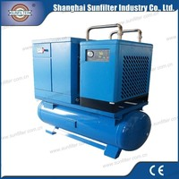 Compact Mounted Air Compressor 11kw 8bar with screw air compressor system