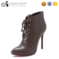 china wholesale red bottom shoes high heel lace up citi trends boots