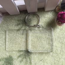 wholesale acrylic photo frame keyring