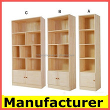 whosale modern design fireproof wooden bookcase,cabinet,bookshelf
