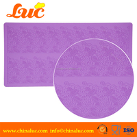 100% home made DIY LSM3215 kitchen silicone lace mat silicon lace mats for cakes