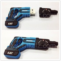 hot sell Custom PVC rubber usb drives 8GB Tool shape usb flash drive
