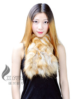 CX-S-117A Wholesale Chengxing Fur Real Fox Fur Knitted Scarf