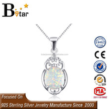 birthstone jewelry natural gemstone 925 silver mexican fire opal pendant