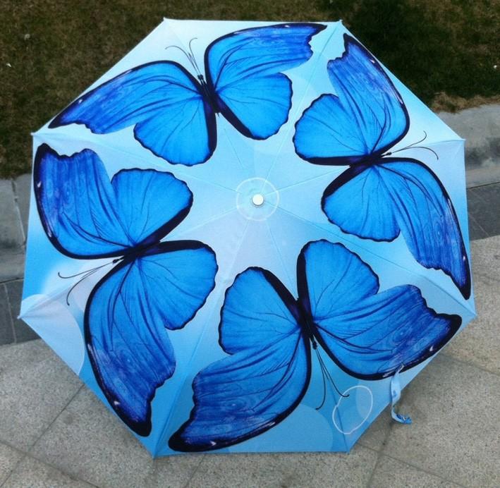 новый анти-УФ зонтик дождь женщин мужчины Зонты автоматические бабочка 1ps