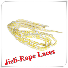 Jieli customized rope cord laces for sports shoes colorful elastic cord for basketball shoes