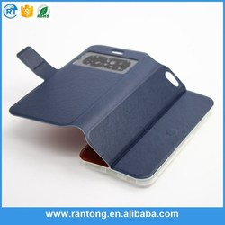 New coming good quality two mobile leather phone case from manufacturer