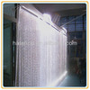 white waterfall crystal led fiber optic wedding light curtain