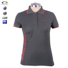 Personalizado en color Gris CVC TC polo <span class=keywords><strong>bordado</strong></span> de 100% algodón de alta calidad