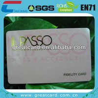Credit Card Size PVC Card for Membership