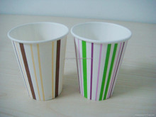 2015 New Product 250ML Single Stripe Party Drinking Paper Cups for Kid's 1st Birthday Party