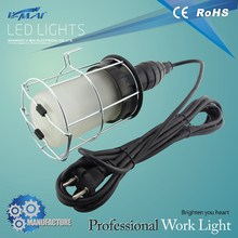 rubber incandescent bright metal portable utility work lamp