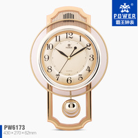 Plastic&glass sweep quartz movement superior quality cheap price digital clock manufacturer wall clock modern design pendulum