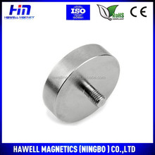 Holding magnet pot, rubber coated, nickel coated with male thread