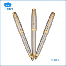 Promotion pen feather clip metal ball pen custom logo metal pen