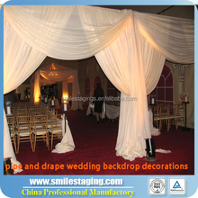 Red Velvet Drapes Backdrop Poles Backdrop Wedding Decoration