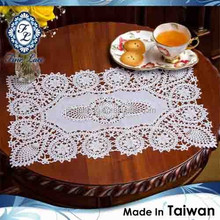Premium Vinyl Crochet Lace Table Center Mat