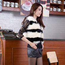 MS20630A latest design ladies mohair faux fur short vest for women winter and Autumn