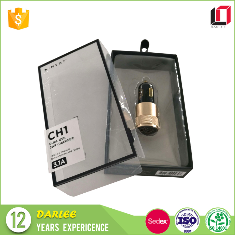 usb car charger packaging boxes