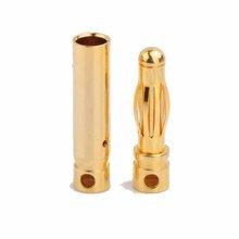 AMASS 4.0mm brass banana plug,24k gold connector banana plug