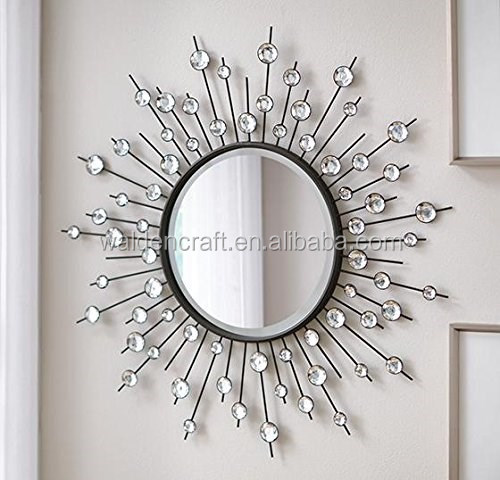 2015 soleil en forme de grand design d coratif miroir for Grand miroir decoratif
