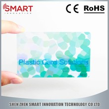 New Products 2015 PVC Transparent Gift Card Printing