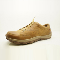durable and comfortable wear soft rubber sole breathable upper lace up men leather trainers shoes