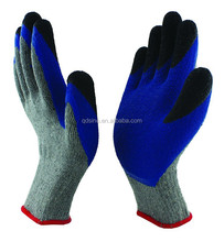 10G10S latex cotton latex rubber working gloves / extra coated gloves for sale