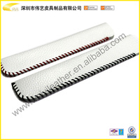 High Quality Fashion Wholesale Cheap Promotional Gift Custom White Single Pen Case Leather Student Pencil Case