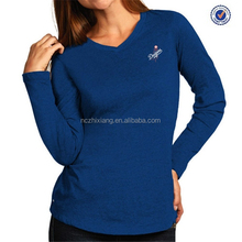 Factory OEM women's cotton spandex long sleeve t shirt