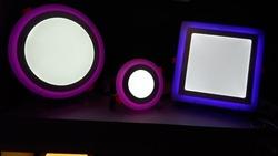 Hot sale blue Decorative LED light Double Color slim LED Panel Light