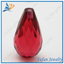 hot sale water drop handmade red color glass bead
