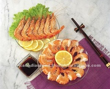 Cooked Black Tiger Shelled Shrimp