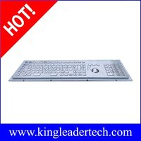 Industrial metal kiosk keyboard with trackball ,Function keys and number keypad