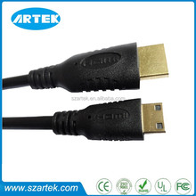 Mini HDMI cable with gold plated support 4K*2K,1080P,3D,Ethernet 1.4v