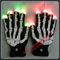 LED Flashing Gloves/Halloween Glow in the Dark Kid Toy/LED Kid Toy