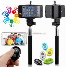 Mobile Bluetooth Selfie Stick Extendable Hand Monopod , Selfie Stick With Bluetooth Shutter Button