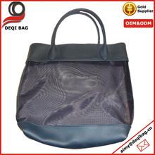 Tote Travel Makeup Bag Black Pool Beach Medium Size Purse Mesh Bag