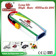 Airplane rc High rate High power 20c 14.8v 4000mah lipo battery