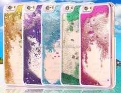 Luxury Transparent Liquid Quicksand Bling Glitter Star Case cover for iphone 6 Plus