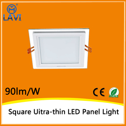6w glass covers square led panel light frame