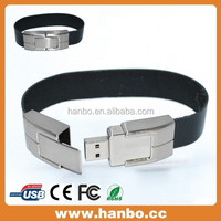 16gb wristband leather usb flash memory