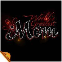 World Greatest Mom Rhinestone Motif Designs