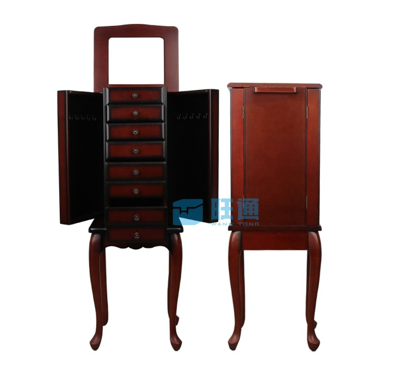 bo te bijoux armiore en bois armoire bijoux bo te. Black Bedroom Furniture Sets. Home Design Ideas