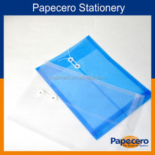 White and blue transparent hanging file folder pvc document bag