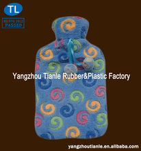 Hot Water Bottle With Colorful Circles Coral Velvet Cover