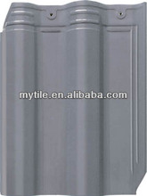300x400x10mm Chinese Interlocking waterproof grey clay roof tile