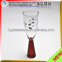 2014 unique design wholesale clear lead shot glass glass making machine